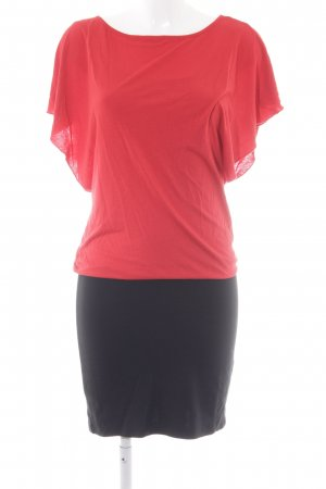 Esprit Jerseykleid schwarz-rot Elegant