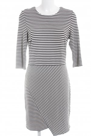 Esprit Jersey Dress black-white striped pattern casual look