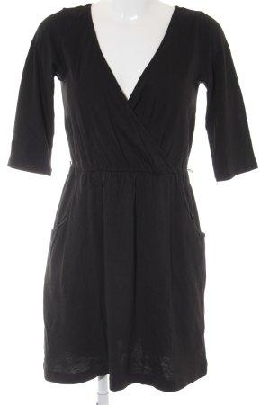 Esprit Jerseykleid schwarz Wickel-Look