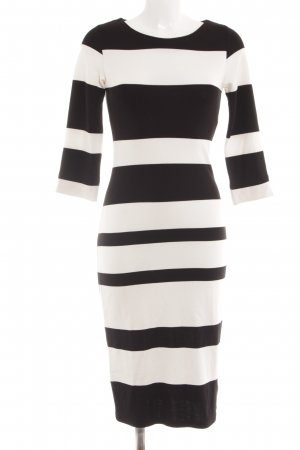 Esprit Abito jersey nero-bianco sporco motivo a righe stile casual