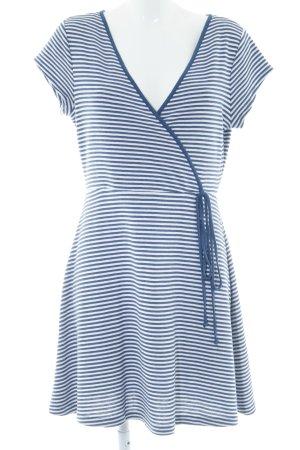 Esprit Jerseykleid weiß-blau Streifenmuster Casual-Look