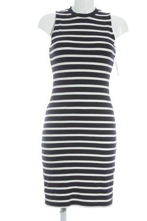 Esprit Jerseykleid weiß-dunkelblau Streifenmuster Marine-Look