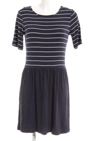 Esprit Jerseykleid weiß-dunkelblau Streifenmuster schlichter Stil