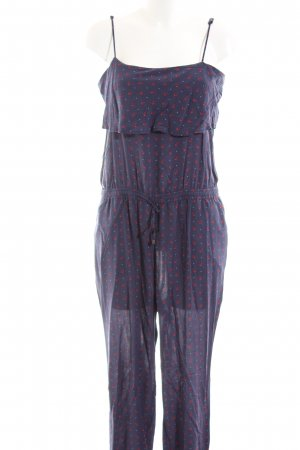 Esprit Jumpsuit blue-red abstract pattern casual look