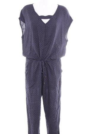 Esprit Jumpsuit dunkelblau-weiß Allover-Druck Casual-Look