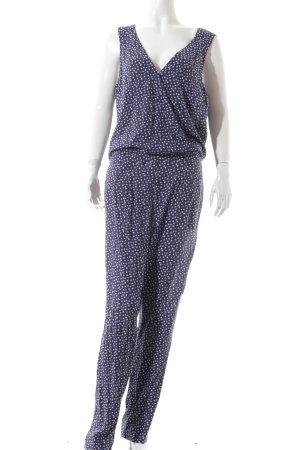 Esprit Jumpsuit dunkelblau-weiß grafisches Muster sportlicher Stil
