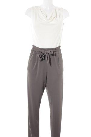Esprit Tuta marrone-grigio-crema stile casual