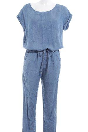 Esprit Jumpsuit kornblumenblau-weiß Casual-Look