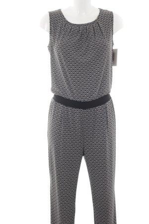 Esprit Jumpsuit schwarz-weiß abstraktes Muster Casual-Look