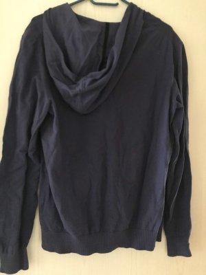 Esprit Chaqueta de tela de sudadera negro-azul oscuro