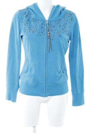 Esprit Chaqueta con capucha azul neón estilo deportivo