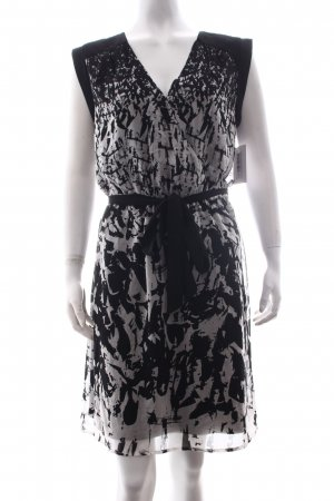 Esprit Hooded Dress black-white abstract pattern elegant