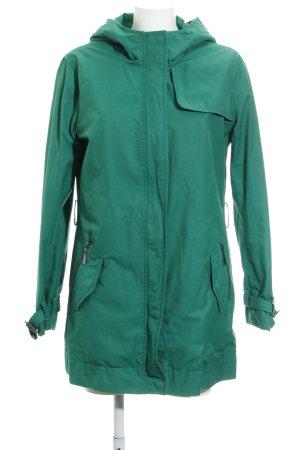 Esprit Manteau à capuche brun-vert style décontracté