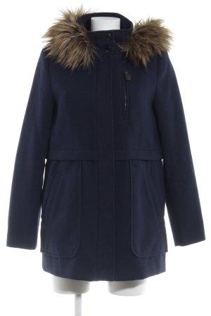 Esprit Manteau à capuche bleu foncé style décontracté