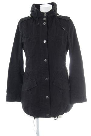 Esprit Abrigo con capucha negro look casual