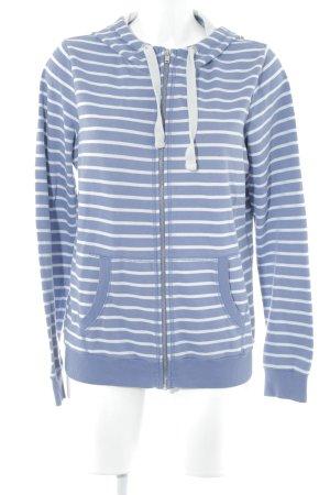 Esprit Capuchon sweater staalblauw-wit gestreept patroon casual uitstraling