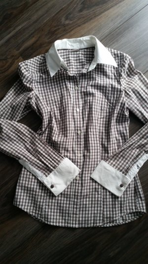 Esprit Checked Blouse grey brown