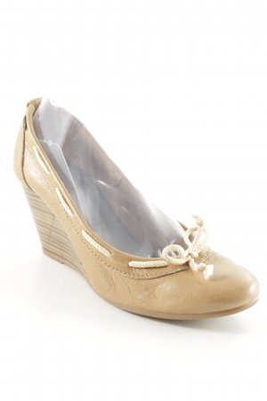 Esprit Keil-Pumps sandbraun-hellbeige Casual-Look