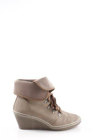 Esprit Keil-Stiefeletten bronzefarben Casual-Look