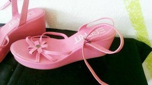 Esprit Keilabsatz Sandalen Keilsandalen Pink Neu Gr 40