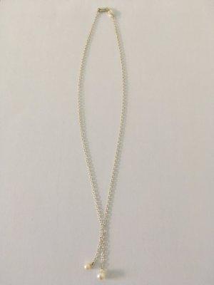 Esprit Kette, 925er Silber, mit kleinen Perlenanhänger