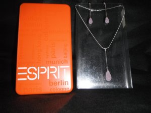Esprit Silver Chain dusky pink-light pink real silver