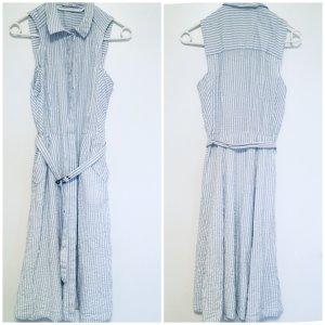 Esprit Kleid 100% Baumwolle blau weiß gestreift