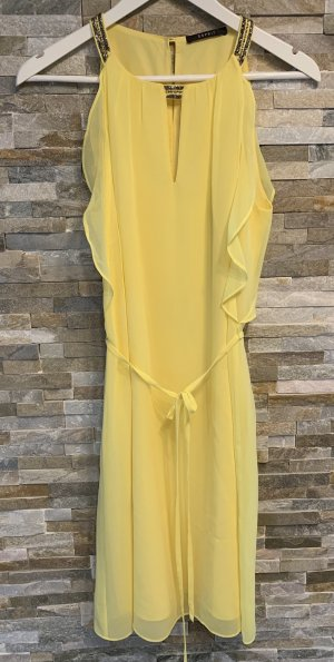Esprit Off-The-Shoulder Dress yellow-anthracite polyester