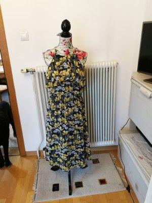 Edc Esprit Robe mi-longue bleu foncé-jaune