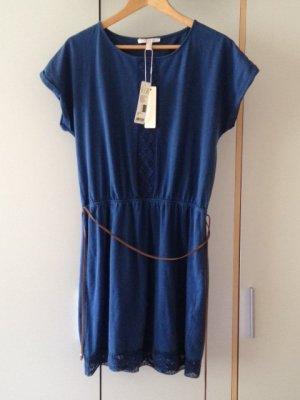 Esprit Kleid blau mit Spitze + Bindegürtel, neu mit Etikett