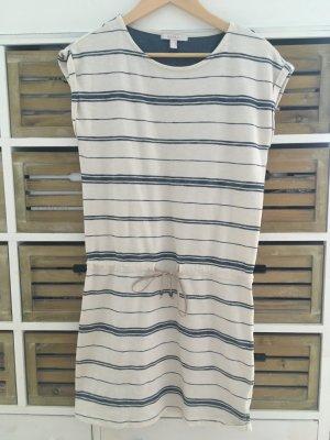 ESPRIT Kleid blau weiß beige gestreift in Gr. XS / 34