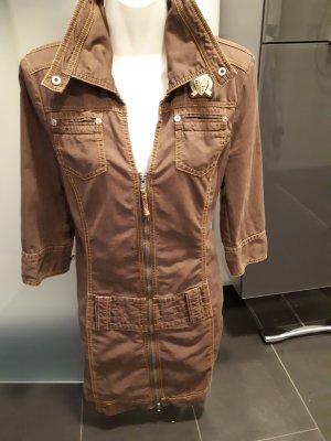 Edc Esprit Vestido vaquero color bronce-naranja claro Algodón