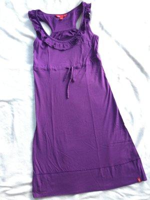 Esprit Kleid edc Gr. XS lila Sommerkleid Strandkleid rüschen