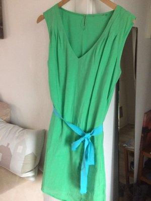Esprit Kleid grün/ blaue Schleife