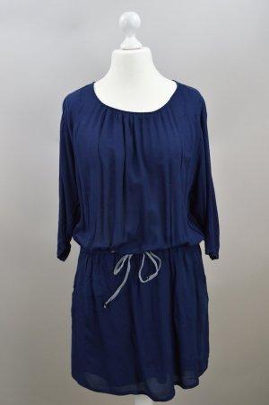 Esprit Kleid locker geschnitten blau Größe 42