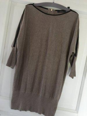 Esprit Kleid Longpullover beige schwarz Gr. M