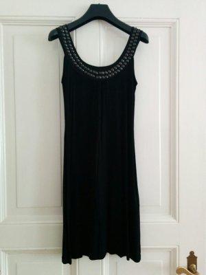 Esprit Kleid Longtop mit Nieten Viskose schwarz Gr. XS