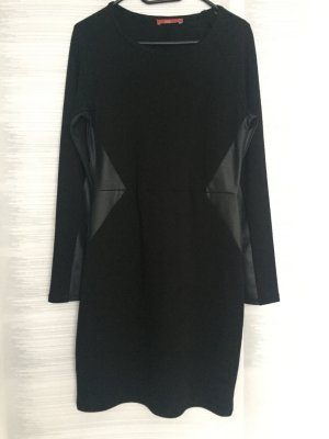 Esprit Kleid mit Kunstlederbesätzen, Gr. S