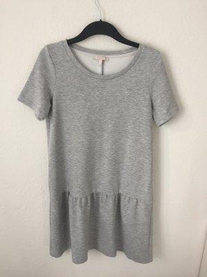Esprit Kleid mit Volant Grau