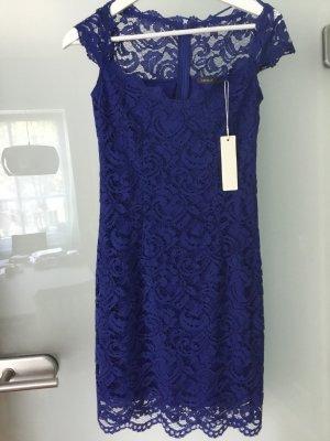 Esprit Kleid Royal-blau, Spitze, 32, neu