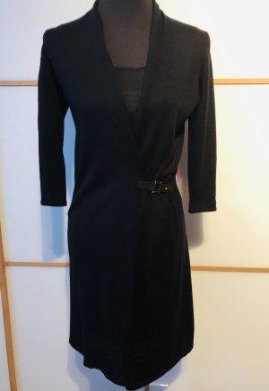 Esprit Kleid schwarz Elegant Wickelkleid