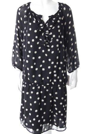Esprit Kleid Schwarz mit Rüschen