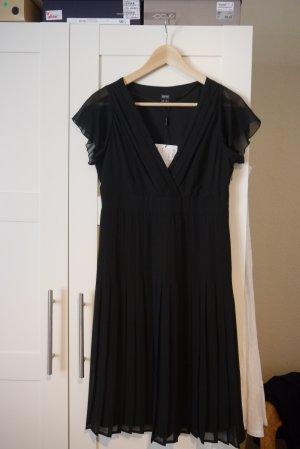 Esprit Kleid schwarz tiefer V-Ausschnitt lbd little black dress Gr. 36 NEU mit Etikett