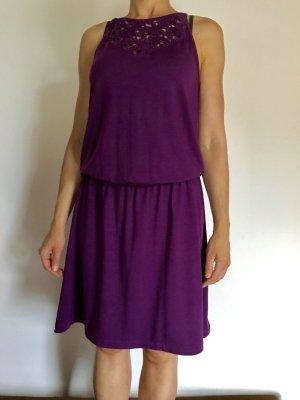 Esprit Kleid Sommerkleid Gr XS 34, lila, Top