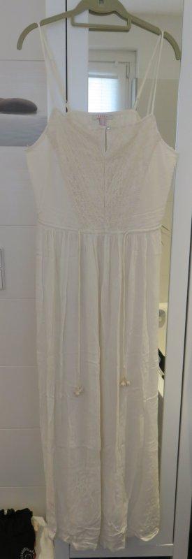 Esprit Kleid, Trägerkleid, creme mit Spitze, Gr. 42, NEU