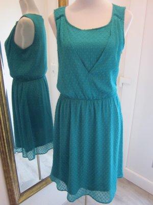 Esprit Robe chiffon turquoise fibre synthétique