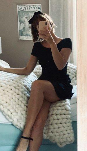 Esprit Kleid Vintage Look schwarz Baumwolle XS