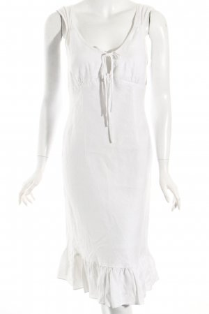 Esprit Trägerkleid weiß Boho-Look