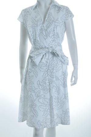 Esprit Kleid weiß-schwarz Punktemuster Wickel-Look