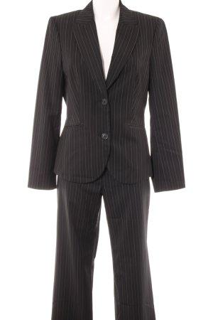 Esprit Kostüm schwarz-hellgrau Streifenmuster Business-Look